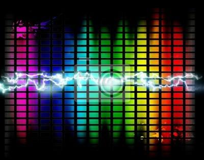 con fondo graficos ondas y de musica