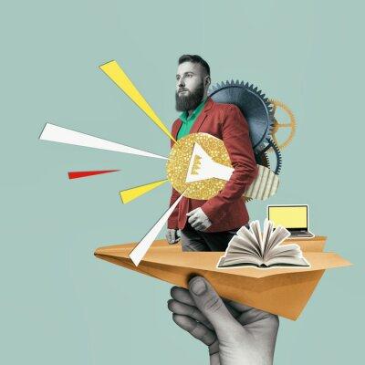 Bild Concept of creativity, inspiration, ideas. Art collage with business ideas.