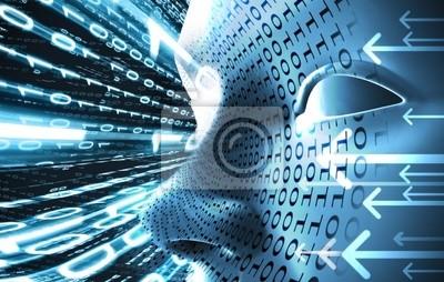 concepto de codigo Technologie mit binären