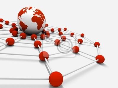 concepto de Internet en y negocio rot