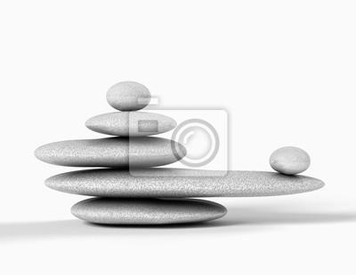 concepto zen con Piedras de equilibrio aisladas en blanco
