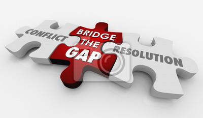 Bild Conflict Resolution Bridge Gap Puzzle 3d Illustration