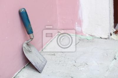 Construction Ebene Fliesen zu Hause Fliesenboden Klebstoff