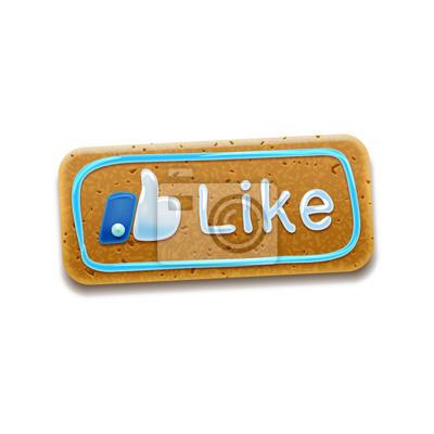Cookie-Like / Thumbs Up-Symbol Symbol, Vektor-Illustration Eps 10
