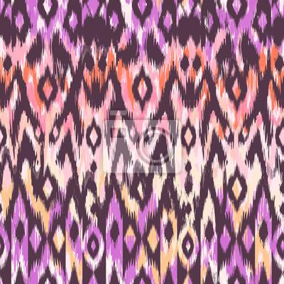 Cool Ikat Muster Design Nahtlose Hintergrund Leinwandbilder