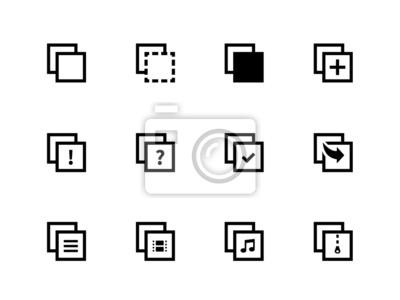 Copy Paste Icons für Apps, Web-Seiten.