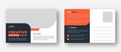 Bild Corporate business or marketing agency postcard template