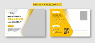 Bild Corporate business postcard template
