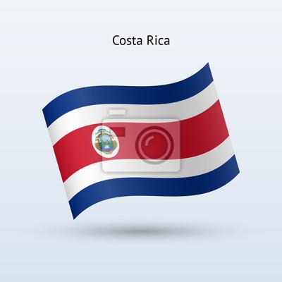 Costa Rica Fahnenschwingen Form. Vektor-Illustration.