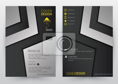 bild cover design vector vorlage fr broschre geschftsbericht magazin poster firmenprsentation - Firmenprasentation Muster