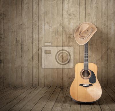 Cowboyhut und Gitarre