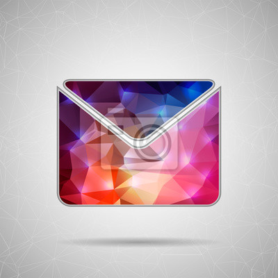 Bild Creative concept vector icon of envelope for Web and Mobile Applications isolated on white background. Vector illustration creative template design, Business software and social media.