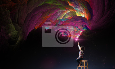 Bild creativity imagination and dreams concept.