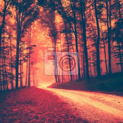 Creepy red vintage Wald