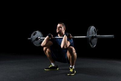 Bild Crossfit athlete performs  weight lift