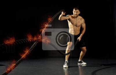 Crossfit-Training. Seile
