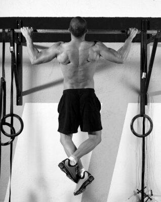 Bild Crossfit Zehen Mann Klimmzüge 2 Bars Training Bar