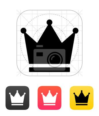 Crown King Symbole. Vektor-Illustration.