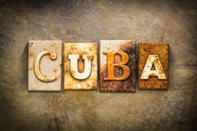 Bild Cuba Konzept Letterpress Theme Leder