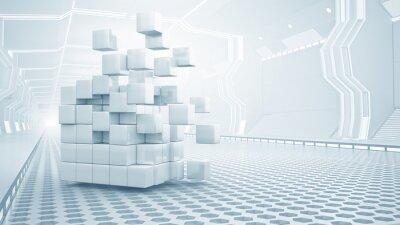 Bild Cube im virtuellen Raum