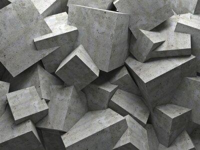 Bild cubes wall