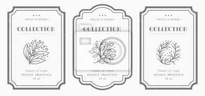 Bild Customizable black and white Pantry label collection.