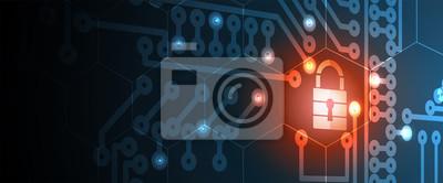 Bild Cyber-Sicherheit und Information oder Netzwerkschutz. Zukünftige Technologiewebdienste für Geschäft und Internet-Projekt