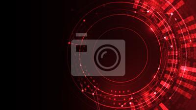 Bild Cyber space red vector