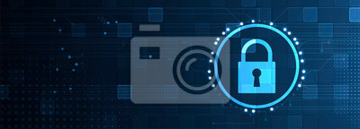 Bild Cybersecurity and information or network protection. Future technology web services for business and internet project