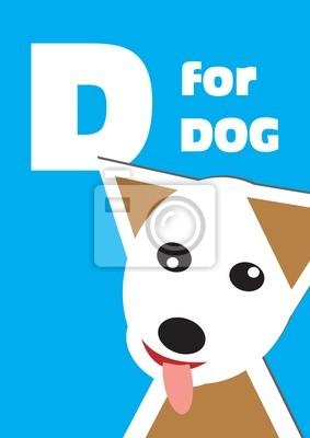 D für den Hund, ein Tier-Alphabet für Kinder