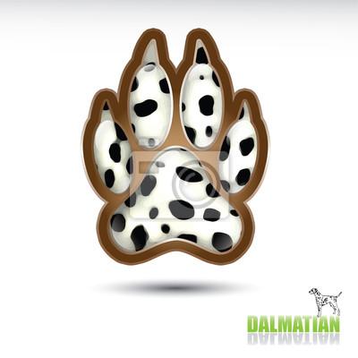 Dalmatiner Fußabdruck Taste