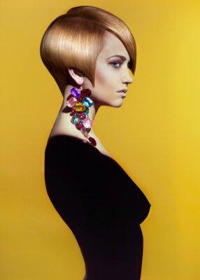Bild Dame mit stilvollen Frisur