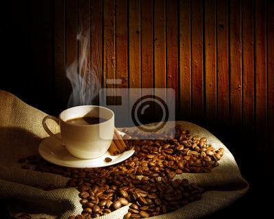 Dampfenden Tasse Kaffee