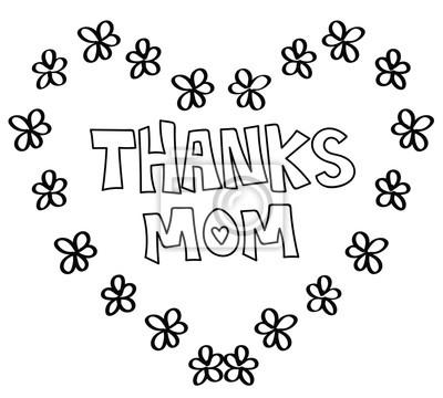 Danke mama herz malvorlagen leinwandbilder • bilder Daisy, Blume ...