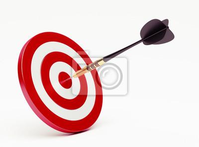 Dart auf rotem Ziel