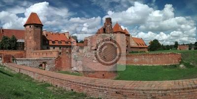 Das alte Schloss in Malbork - Polen.