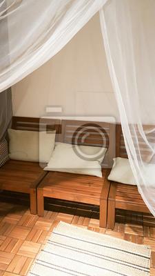 Das Gemutliche Wohnzimmer Interieur Mit Holzboden Und Holzmobeln