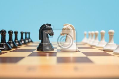 Bild Das Schachbrett- und Spielkonzept von Geschäftsideen und von Wettbewerb.