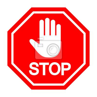 das stoppschild ist verboten leinwandbilder bilder. Black Bedroom Furniture Sets. Home Design Ideas