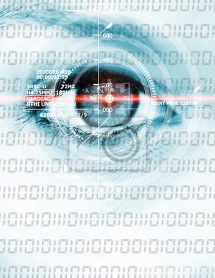 Data eye with binary code