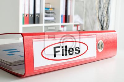 Bild Dateien Wortlaut auf einem Bindemittel