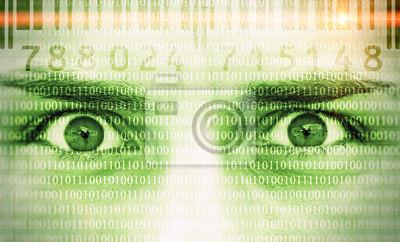 Datensicherheit - Gesicht mit Code