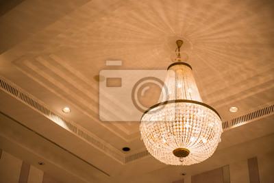 Kristall Kronleuchter Mit Schirm ~ Decke kristall kronleuchter in luxus zimmer leinwandbilder