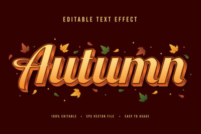 Bild decorative autumn Font and Alphabet vector
