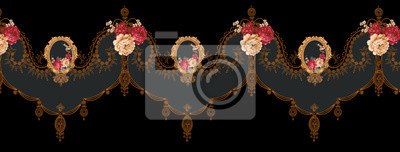 Bild Decorative elegant luxury design.Vintage elements in baroque, rococo style.Design for cover, fabric, textile, wrapping paper .