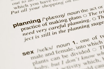 Bild Definition words planning and sex in dictionary