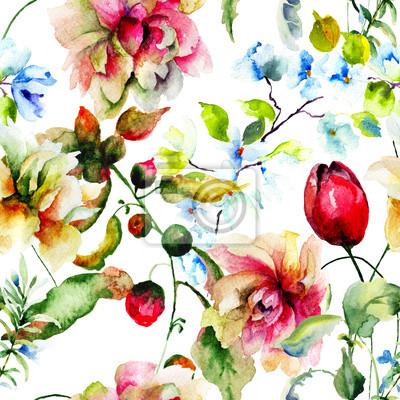 Dekorative wilde Blumen