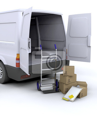 Delivery Boxes and van