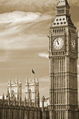 Bild Der Big Ben, das House of Parliament und der Westminster Bridge