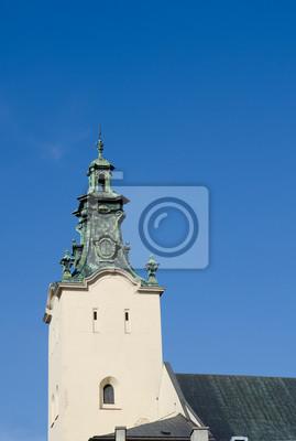 Der Glockenturm der Kathedrale der Himmelfahrt der Jungfrau Maria (lateinische Kathedrale)